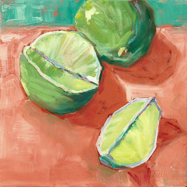Wall Art - Painting - Fresh Limes by Pam Talley