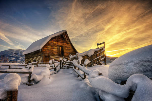 Steamboat Springs Photograph - Fresh Snow At The Barn by David Soldano
