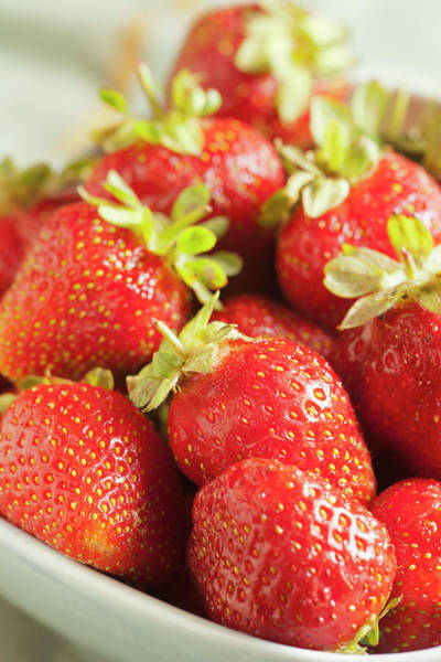 Season Photograph - Fresh Strawberries by Brian Yarvin