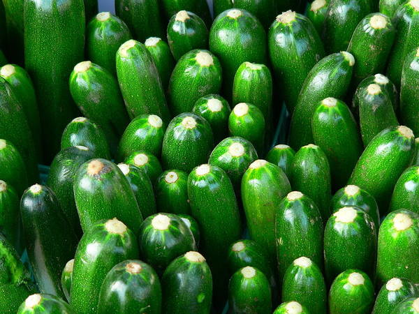 Photograph - Fresh Whole Zuccini Italian Squash by Jeff Lowe