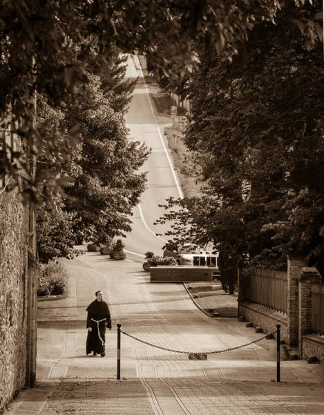 Photograph - Friar In Assisi by Dwight Theall