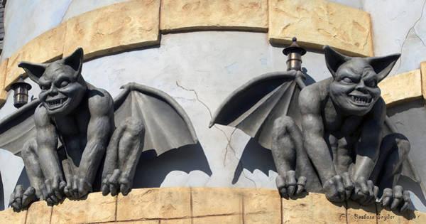 Gargoyle Digital Art - Frick And Frack Santa Cruz Gargoyles by Barbara Snyder