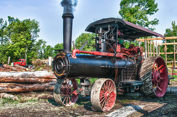 Photograph - Frick Steam Tractor by Guy Whiteley