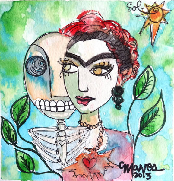 Painting - Frida And Sol by Laurie Maves ART
