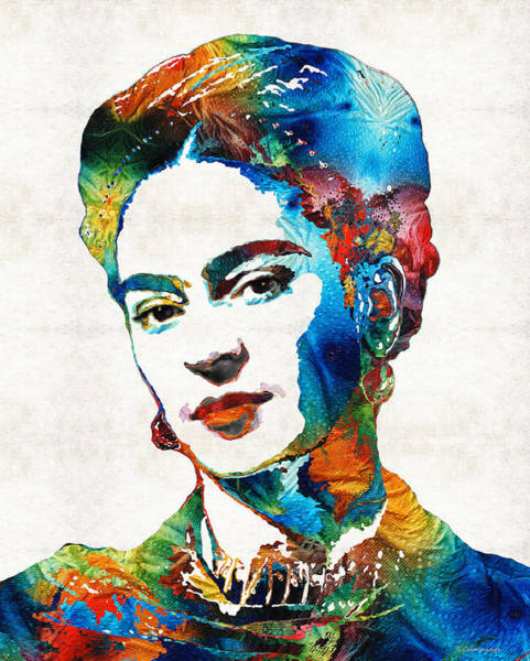 Famous Wall Art - Painting - Frida Kahlo Art - Viva La Frida - By Sharon Cummings by Sharon Cummings