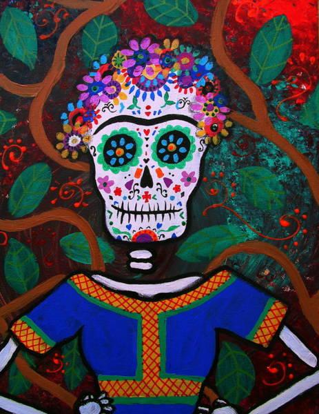 Painting - Frida Kahlo Dia De Los Muertos by Pristine Cartera Turkus
