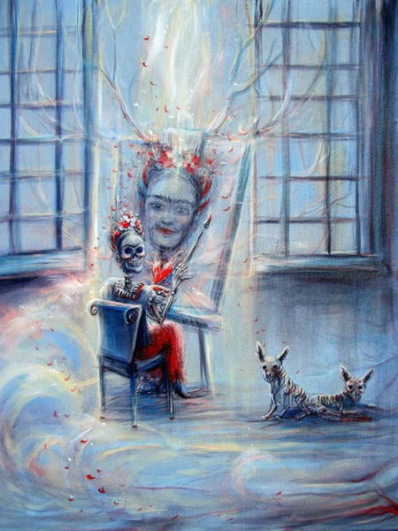 Wall Art - Painting - Frida La Artista by Heather Calderon