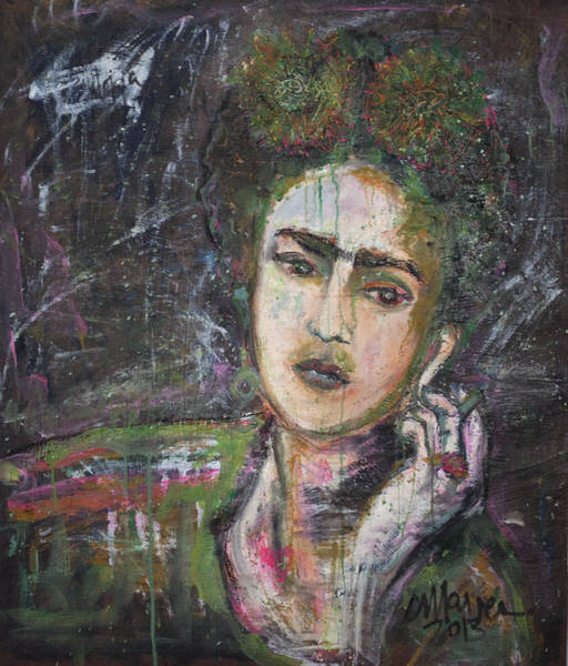 Painting - Frida Y Cigarrillos by Laurie Maves ART