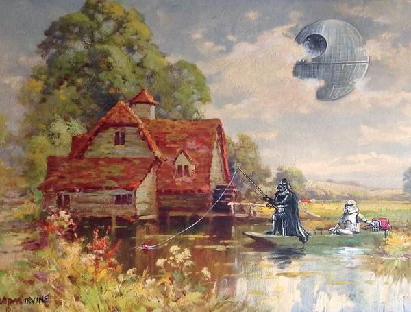 Star Wars Wall Art - Painting - Friday Afternoon by David Irvine
