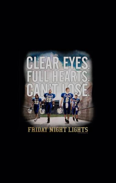 Wall Art - Digital Art - Friday Night Lights - Motivated by Brand A