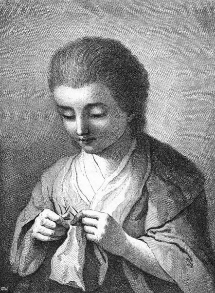 Wall Art - Drawing - Friederike Deser  Friend Of Goethe by Mary Evans Picture Library