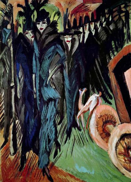 Wall Art - Painting - Friedrichstrasse by Ernst Ludwig Kirchner
