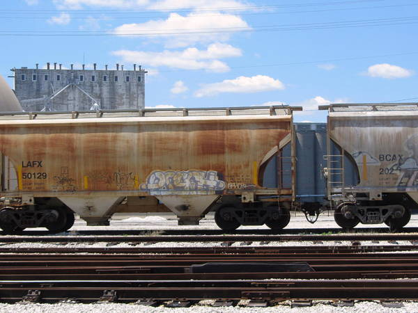 Photograph - Frieght Train Cars 7 by Anita Burgermeister