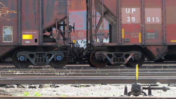 Photograph - Frieght Train Wheels 18 by Anita Burgermeister