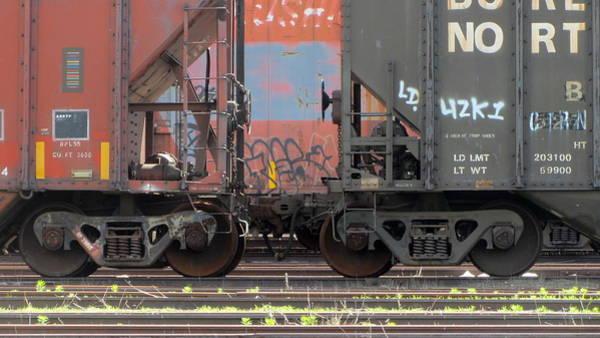 Photograph - Frieght Train Wheels 19 by Anita Burgermeister
