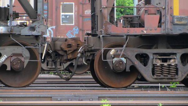 Photograph - Frieght Train Wheels 21 by Anita Burgermeister