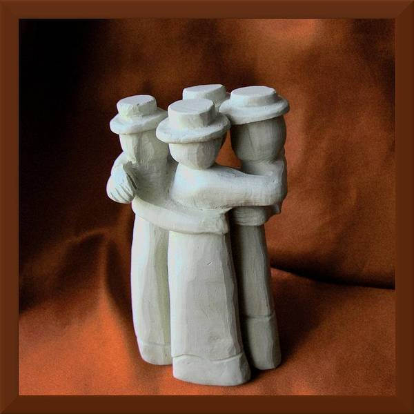 Sculpture - Friends by Barbara St Jean