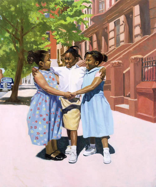 Neighborhood Painting - Friends by Colin Bootman