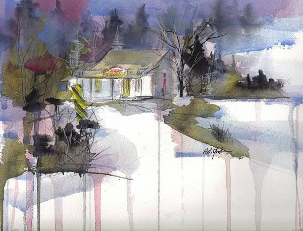 Garrett County Wall Art - Painting - Friends Store December  by Robert Yonke