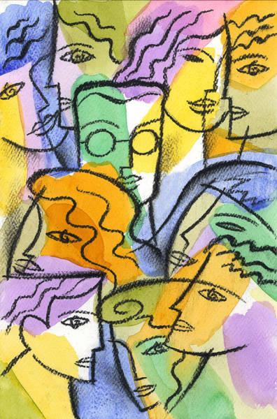 Distinctive Wall Art - Painting - Friendship by Leon Zernitsky
