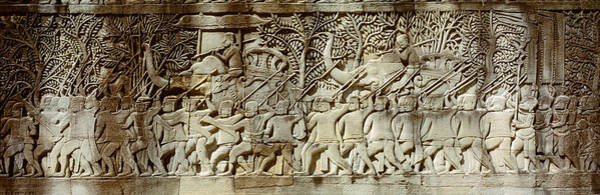 Procession Photograph - Frieze, Angkor Wat, Cambodia by Panoramic Images