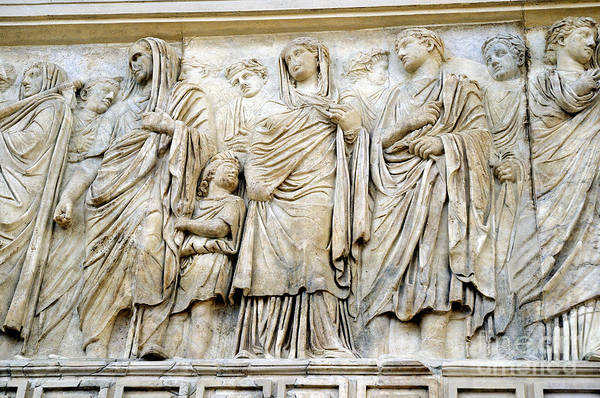 Photograph - Frieze On The Ara Pacis by Brenda Kean