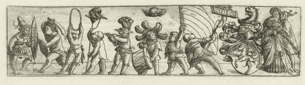 Wall Art - Drawing - Frieze With Putti And Coat Of Arms, Monogrammist Cb by Monogrammist Cb