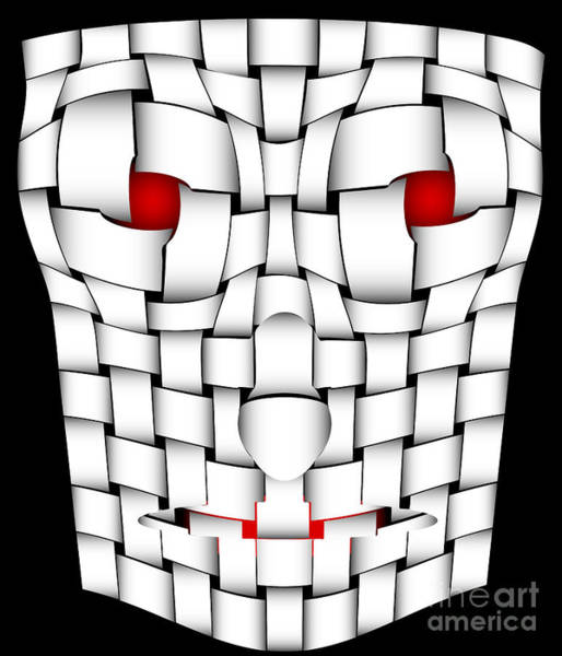 Wall Art - Digital Art - Frightening Mask by Michal Boubin