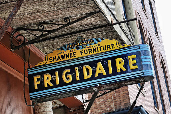 Photograph - Frigidaire Sign by John Kiss