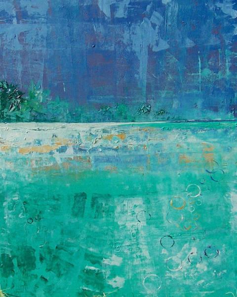 Caribbean Wall Art - Painting - Fringed With Palms by Jan Farara