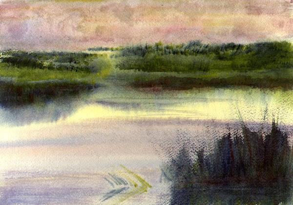Painting - Fripp Marsh by Peter Senesac