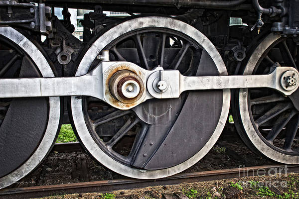 Photograph - Frisco Locamotive Wheels by Ms Judi