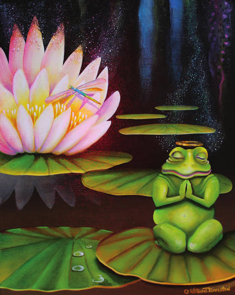 Painting - Frog Fully Reliant On God by William T Templeton