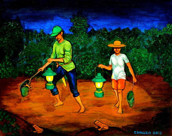 Painting - Frog Hunters by Cyril Maza