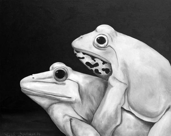 Painting - Froggy Style Edit 3 by Leah Saulnier The Painting Maniac