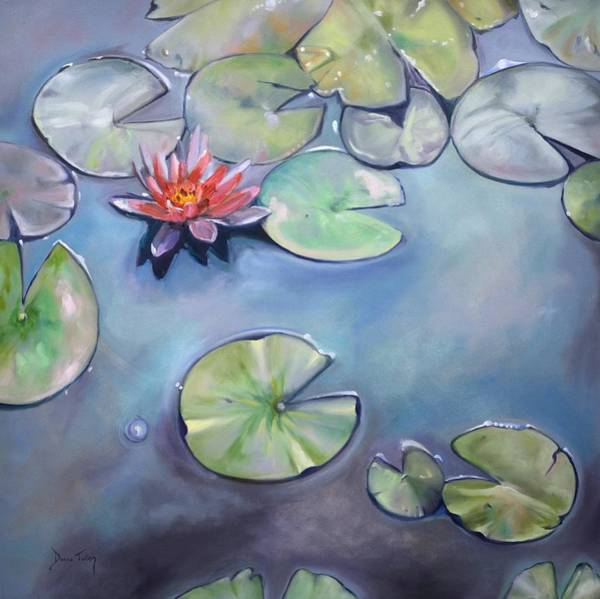 Wall Art - Painting - Frog's Paradise by Donna Tuten
