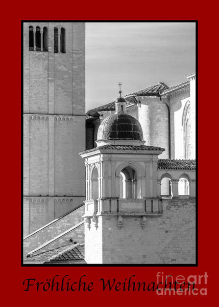 Photograph - Frohliche Weihnachten With Basilica Details by Prints of Italy