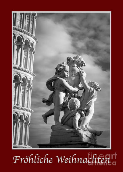 Photograph - Frohliche Weihnachten With Fountain Of Angels by Prints of Italy