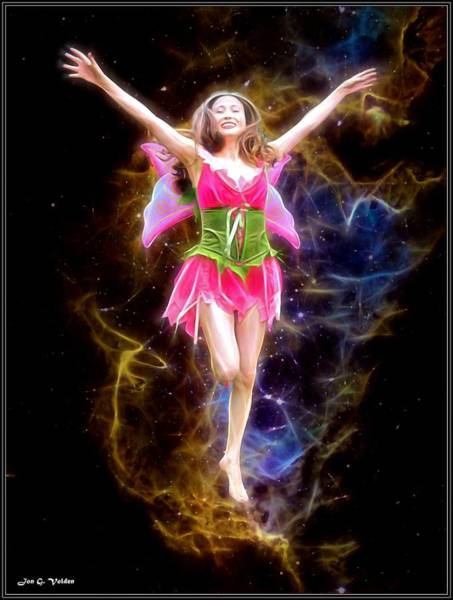 Painting - Frolicking Fairy by Jon Volden