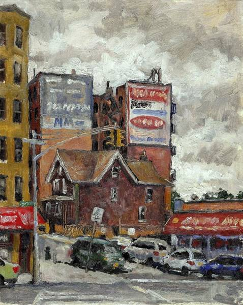 From 230th Street The Bronx Oil On Panel Art Print