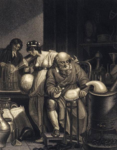 Photograph - From Alchemy To Chemistry, 19th Century by Science Photo Library