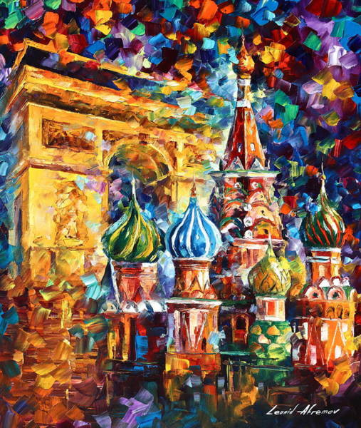 Wall Art - Painting - From Moscow To Paris by Leonid Afremov