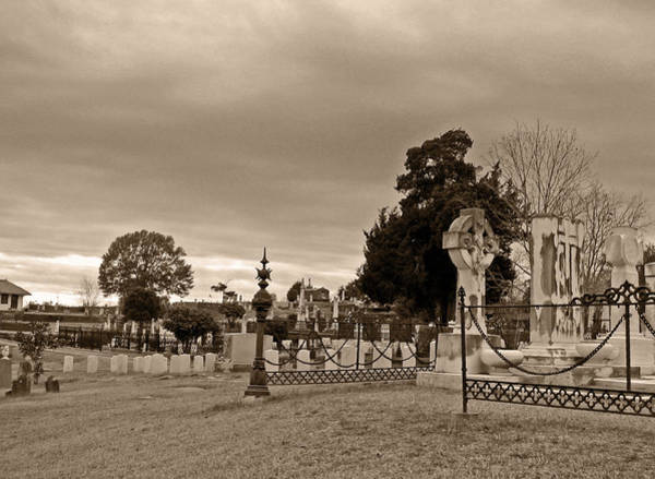Indian Burial Ground Photograph - From One Headstone To Another.......shhhh by Max Mullins