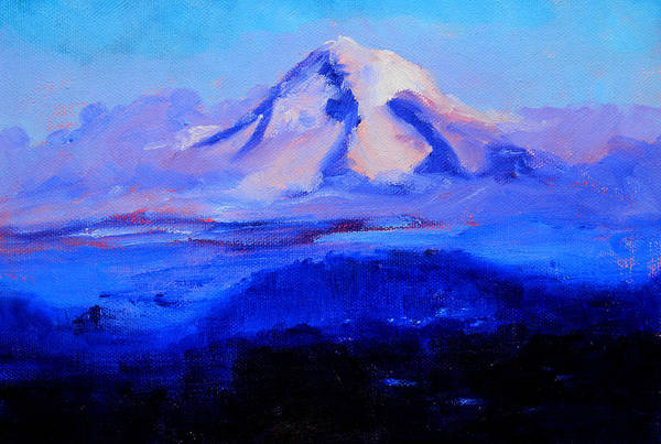 Cascade Mountains Wall Art - Painting - From Portland by Nancy Merkle