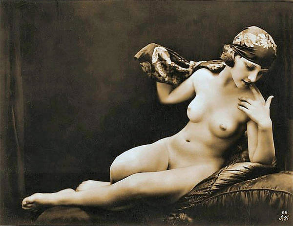 Boudoir Digital Art - From Risque Postcard Collection 4 by Studio Photographer