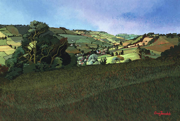 English Countryside Photograph - From Solsbury Hill Acrylic On Canvas by Anna Teasdale