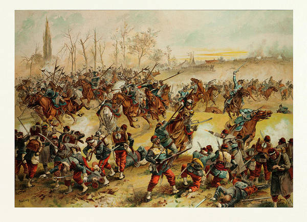 Wall Art - Drawing - From The Battle Of St. Quentin On The 19th Of January 1871 by French School