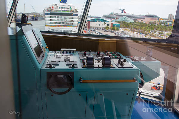 Port Of Tampa Wall Art - Photograph - From The Bridge Waiting For Departure by Rene Triay Photography