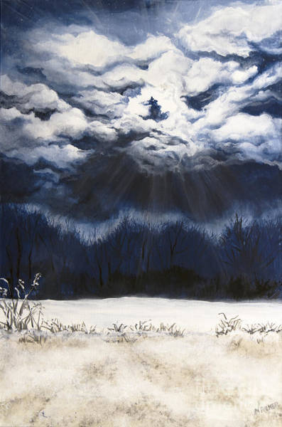 Painting - From The Midnight Sky by Mary Palmer