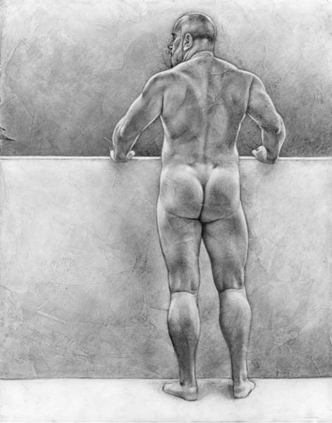 Male Nude Drawing - From The Other Side 4 by Chris Lopez
